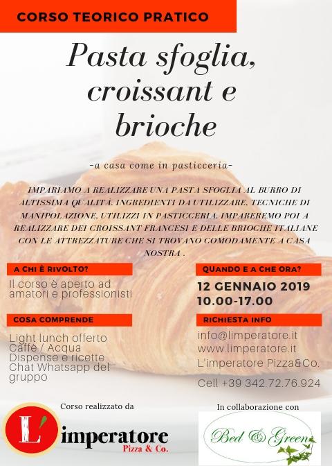 Corso Pasta Sfoglia, croissant e brioche italiana
